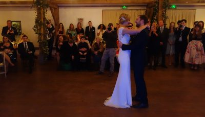 Anna & Patrick's First Dance in the Events Barn at Nancarrow Farm, Cornwall