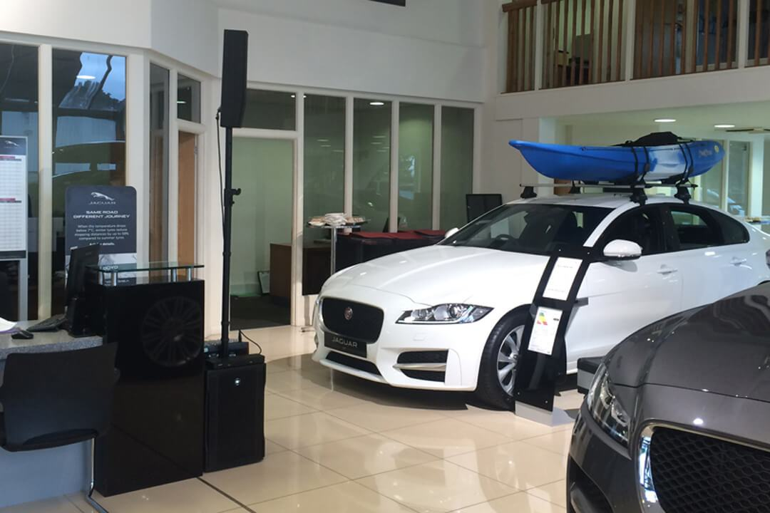 Speaker Hire at Carrs Jaguar